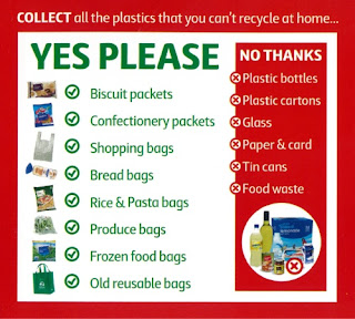 list of items that can be recycled at selected coles supermarkets - including bread bags, frozen food bags and old green bags