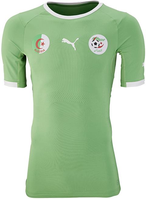Puma divulga camisas da Argélia para a Copa do Mundo - Show de Camisas 7888e38439219