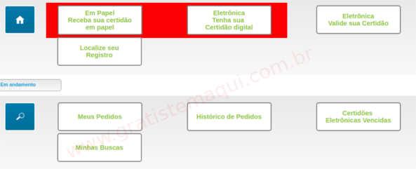 Tabela com tipos de Certidões de Nascimento