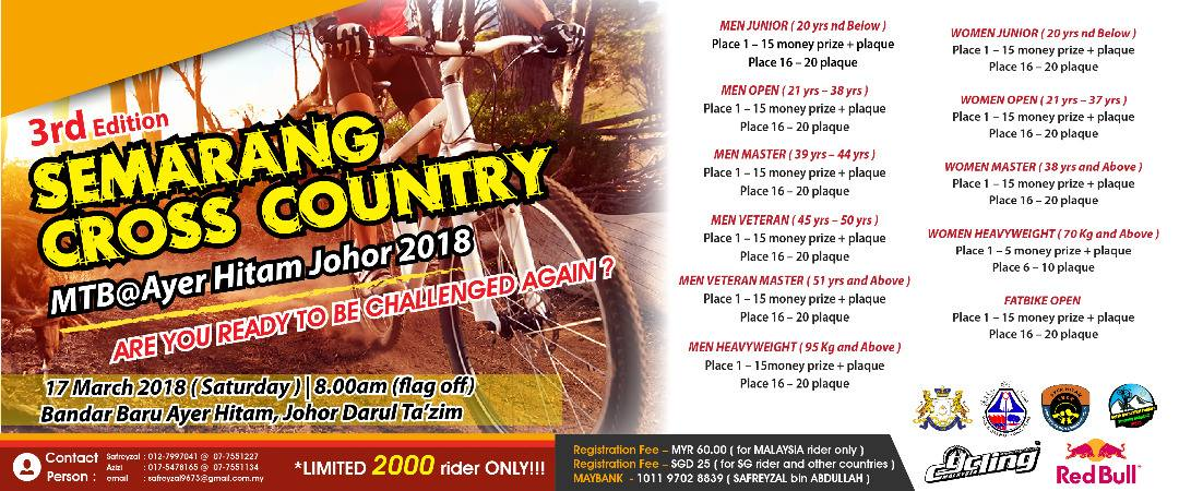 3RD EDITION SEMARANG CROSS COUNTRY MTB@AYER HITAM OHOR 2018