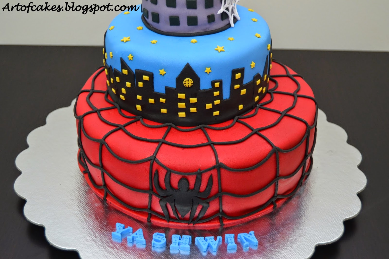 Spiderman Baby Shower Cakes