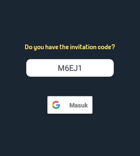 """Masukkan kode M6EJ1 ke kolom yang telah disediakan dan Login menggunakan akun Google dengan cara mengetuk """"Masuk"""" dan ikuti petunjuknya."""