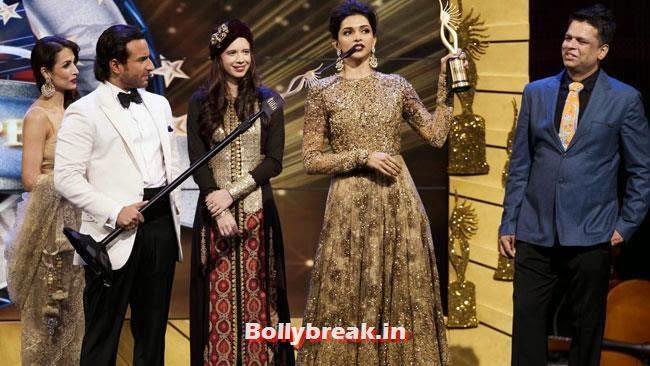 Malaika Arora, Saif Ali Khan, Kalki Koechlin and Deepika Padukone, IIFA Awards 2014 Pics