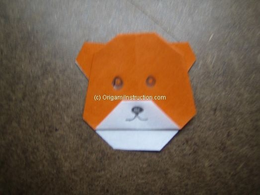 Origami Instruction Origami Bear Head