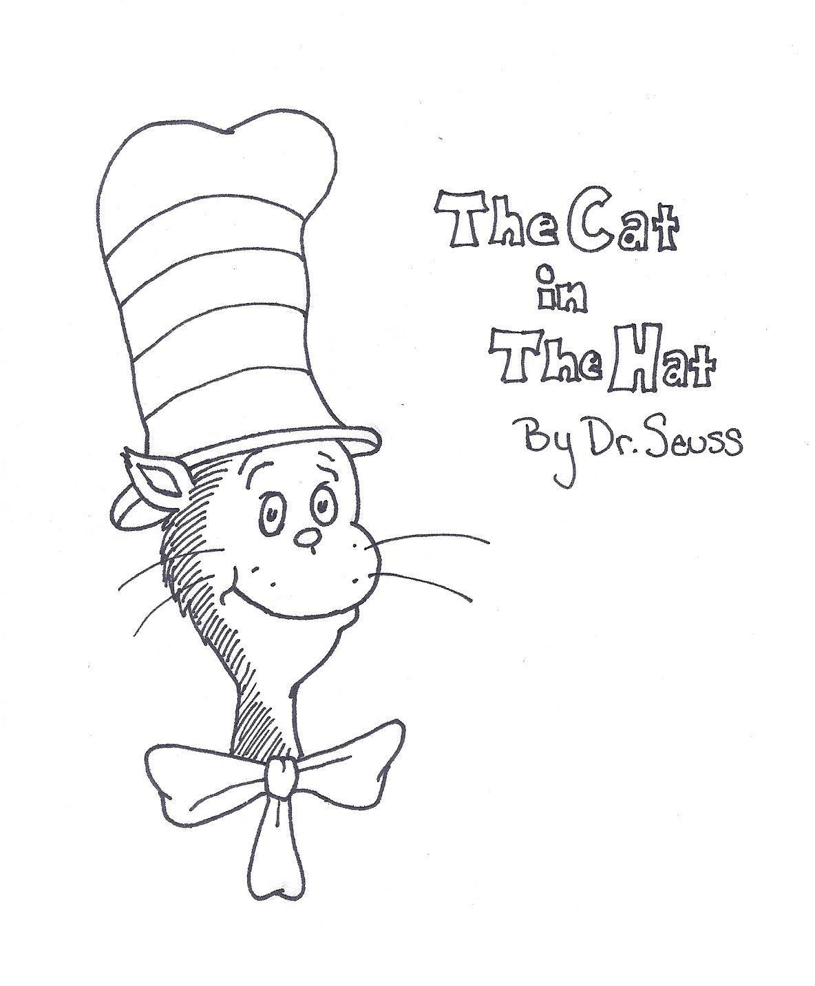 photo relating to Dr.seuss Book Covers Printable named Cat Within The Hat Guide Go over Coloring Site