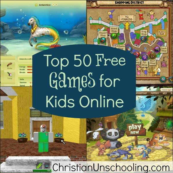 Kids And Teens: Top Games Kids Online