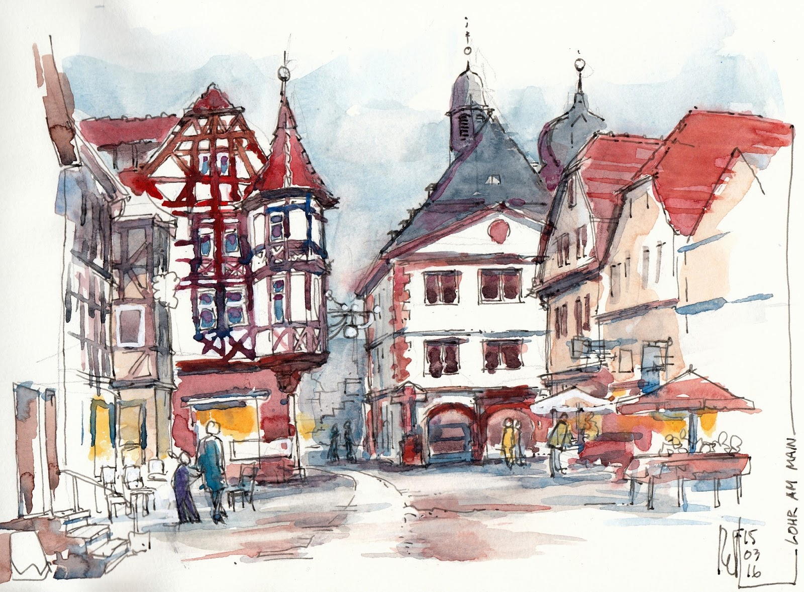 Rene fijten sketches lohr am main for Heimbach lohr am main