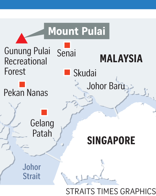 Map of Gunung Pulai