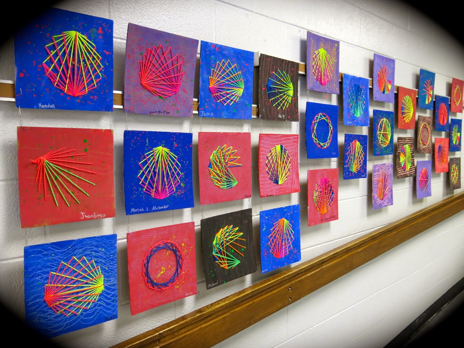 cassie stephens string art with kids