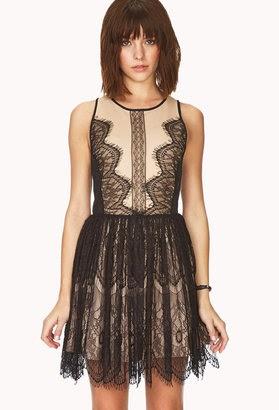 7e1bc7cb138 BCBGMAXAZRIA Layton Lace   Faux Leather Dress Look4Less