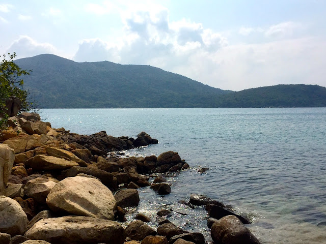 Deserted island views in Hoi Ha bay, Sai Kung Peninsula, Hong Kong