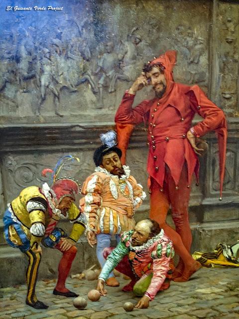 "Bufones jugando al ""cochonnet"", Eduardo Zamacois - Museo Bilbao por EGVP"