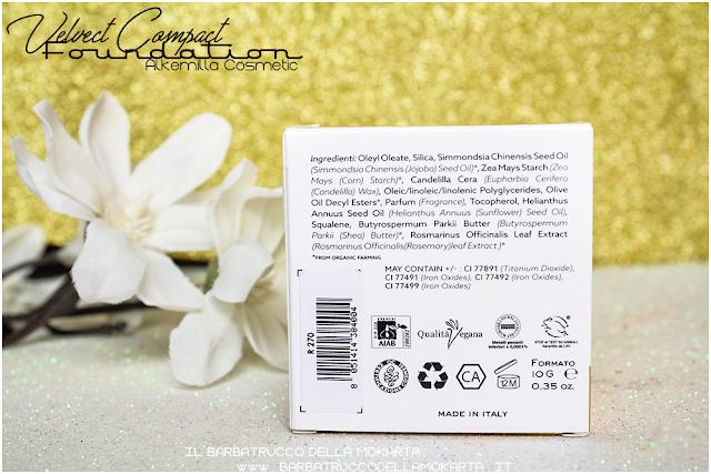 velvet compact foundation, fondotinta compatto in crema alkemilla Recensione