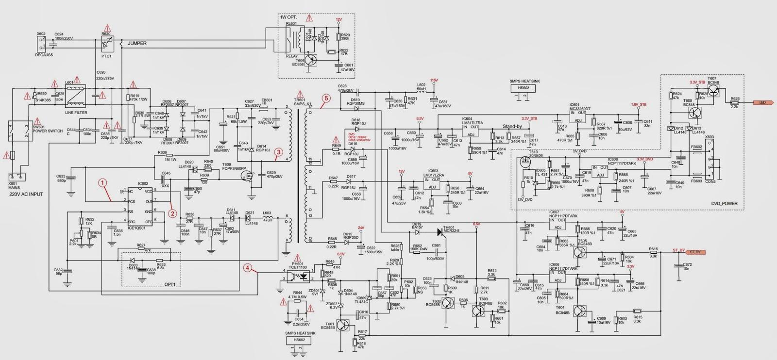 smps power supply circuit diagram electric mx tl 6000 power supply smps schematic circuit digram electro help [ 1600 x 742 Pixel ]