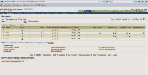 script création database oracle 11g