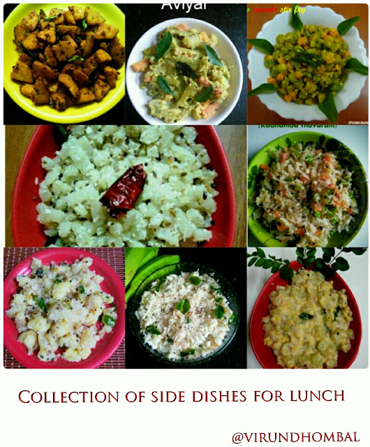 Collection of side dishes for lunch