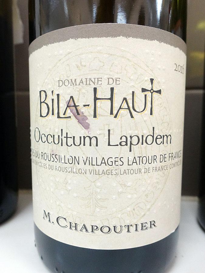 M. Chapoutier Bila-Haut Occultum Lapidem 2016 (91+ pts)