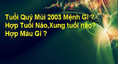 Tu Vi Quy Mui 2003