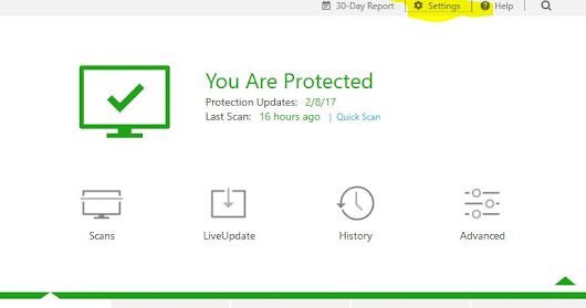 Check The Firewall For Norton Internet Security (as of Feb 2017) with Stamps.Com - or any other Program or App