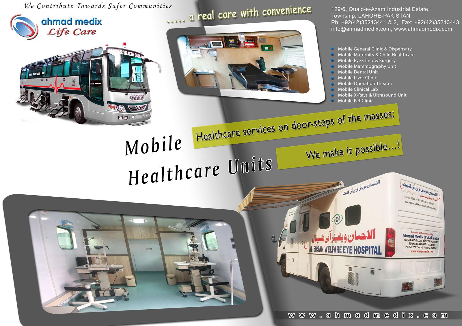 Ahmad Medix (Life Care): mobile clinic on Truck