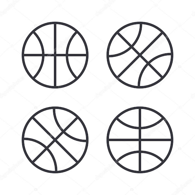 Basketball Ball Outline Icons Modern Minimal Flat Design Style Vector  Illustration Line Symbol Icon Set  Stock Illustration