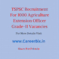 TSPSC Recruitment For 1000 Agriculture Extension Officer Grade-II Vacancies