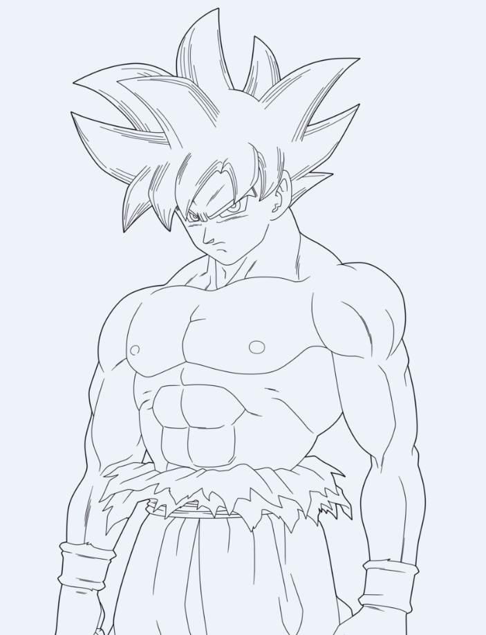 Dibujo De Goku Para Pintar