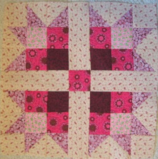 How to make a Pink Magnolia Quilt Pattern Block
