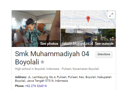 Lowongan kerja SMK Muhamadiyah Boyolali