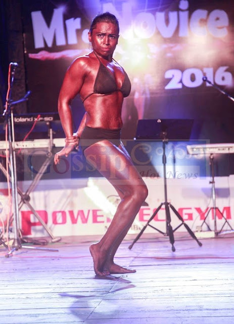 sri Lanka's first competitive female bodybuilder