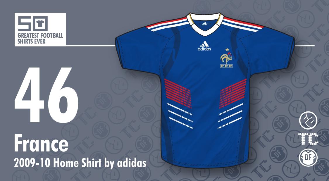 11a877f6b8b 50GFSE] #46 - France 2009-10 Home Shirt (Techfit Version) by adidas ...