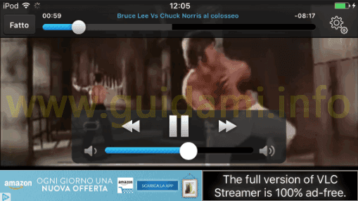 Player di VLC Streamer Free app Android e iPhone