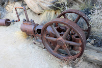 Abandoned mine equipment at Desert Queen Mine, Joshua Tree National Park