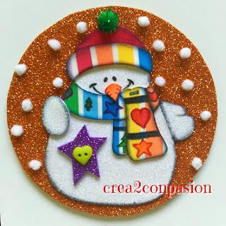 CD-reciclado-muñeco-de-nieve-gomaeva