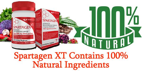 Spartagen XT Contains 100% Natural Ingredients