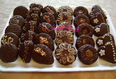طريقة تحضير حلويات الصابلي بالشكلاط بالمراحل المصورة