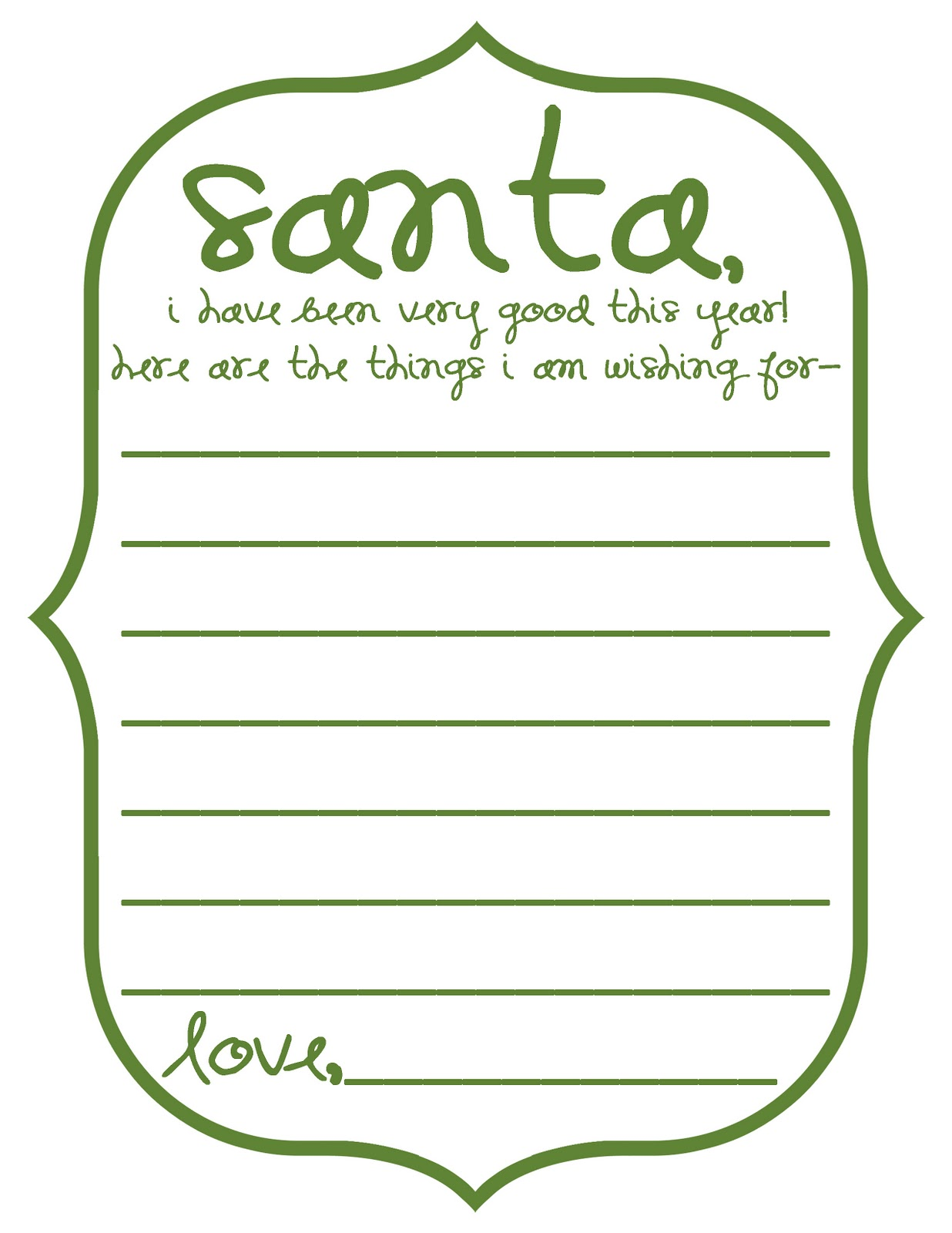 Mommy By Day Crafter By Night Free Printable Dear Santa Letterform
