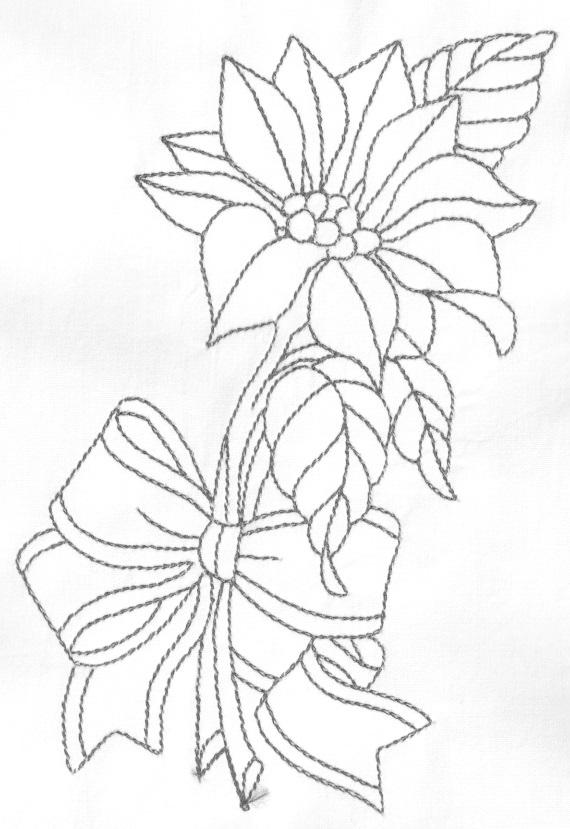 risco para pintura em tecido natal flor