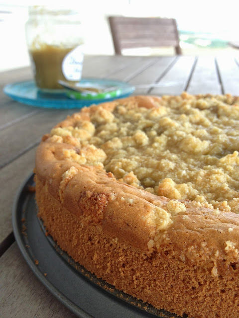 Sweet Kwisine, gâteau, cake, rhubarbe, coffe cake