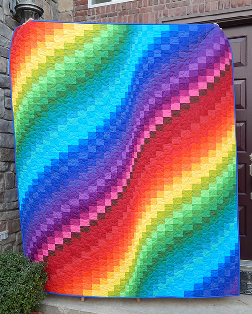 Rainbow Bargello Jelly Roll Quilt Free Pattern