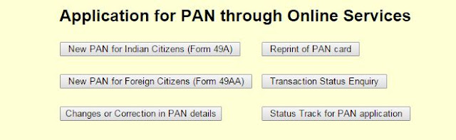 PAN Card Application Online