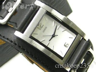 1b3a5d91821 komeng bargains: GUESS Black Leather Strap Watch G66390G