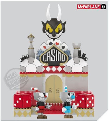 Toy Fair 2019 McFarlane Construction Cuphead Official Pics Chaotic Casino Large Construction Set