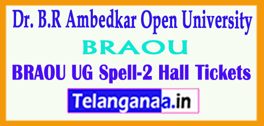 Dr. B.R Ambedkar Open University BRAOU UG Spell-2 Hall Tickets 2018 Download
