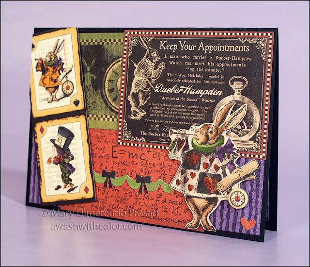 Alice in Wonderland, White Rabbit Pop-up Card