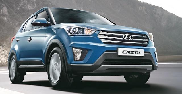 2017 Hyundai Creta Facelift Blue Image
