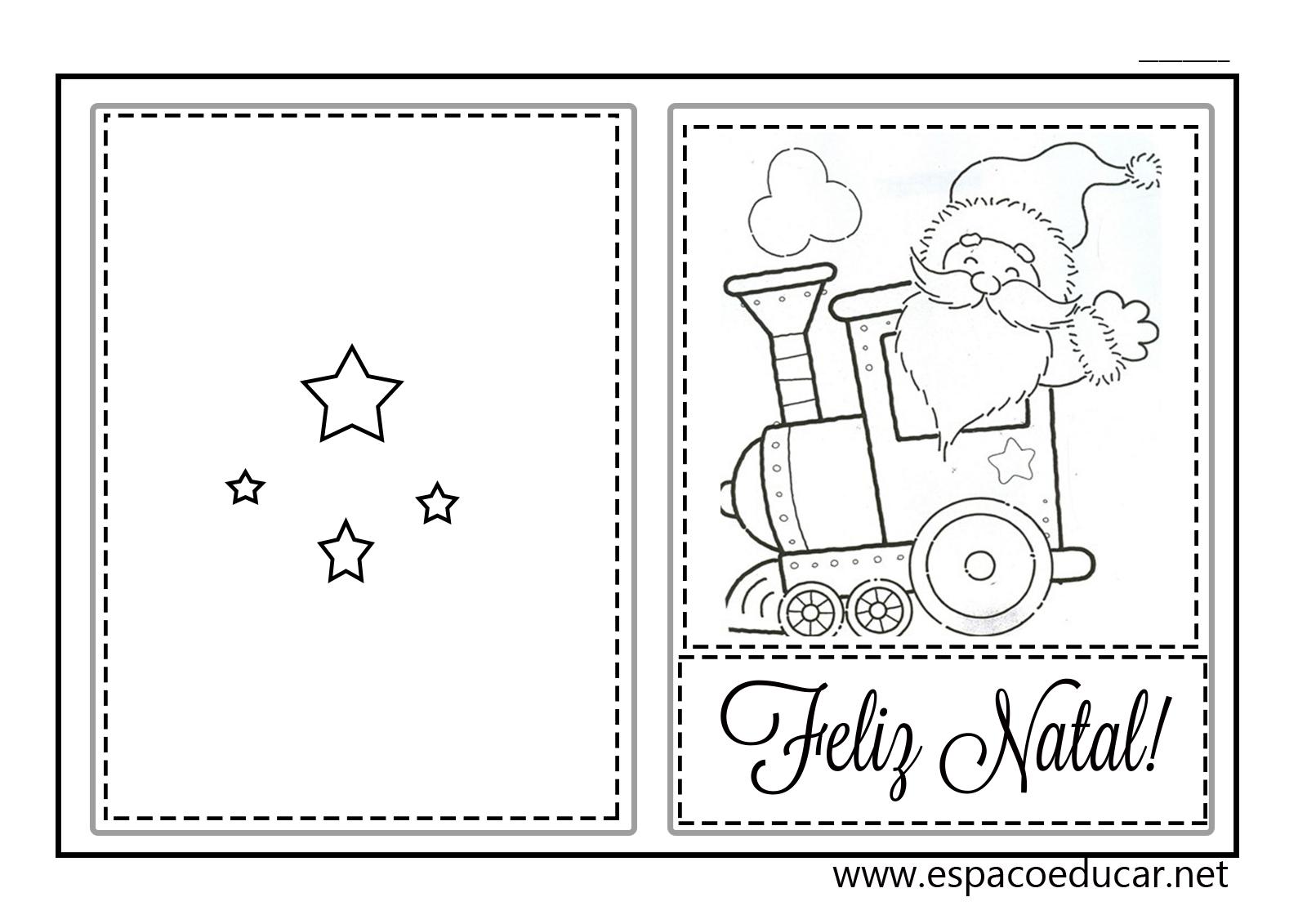 Muito ESPAÇO EDUCAR: Lindos cartões de Natal prontos para imprimir  DG98