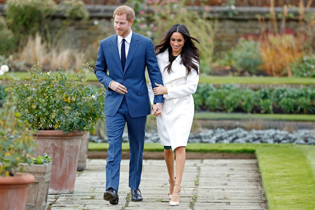 Príncipe Harry y Meghan Markle el día de su pedida de mano