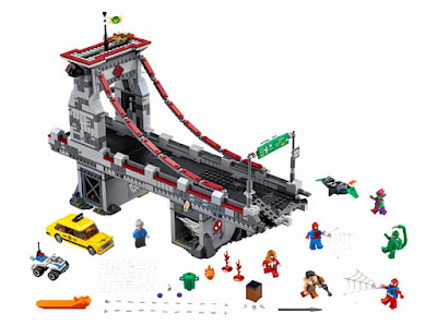TOYS : JUGUETES - LEGO Super Heroes : Marvel  76057 Spider-Man  Combate definitivo entre los guerreros arácnidos  Spider-Man : Web Warriors Ultimate Bridge Battle  Producto Oficial 2016   Piezas: 1092   Edad: 8-14 años  Comprar en Amazon España