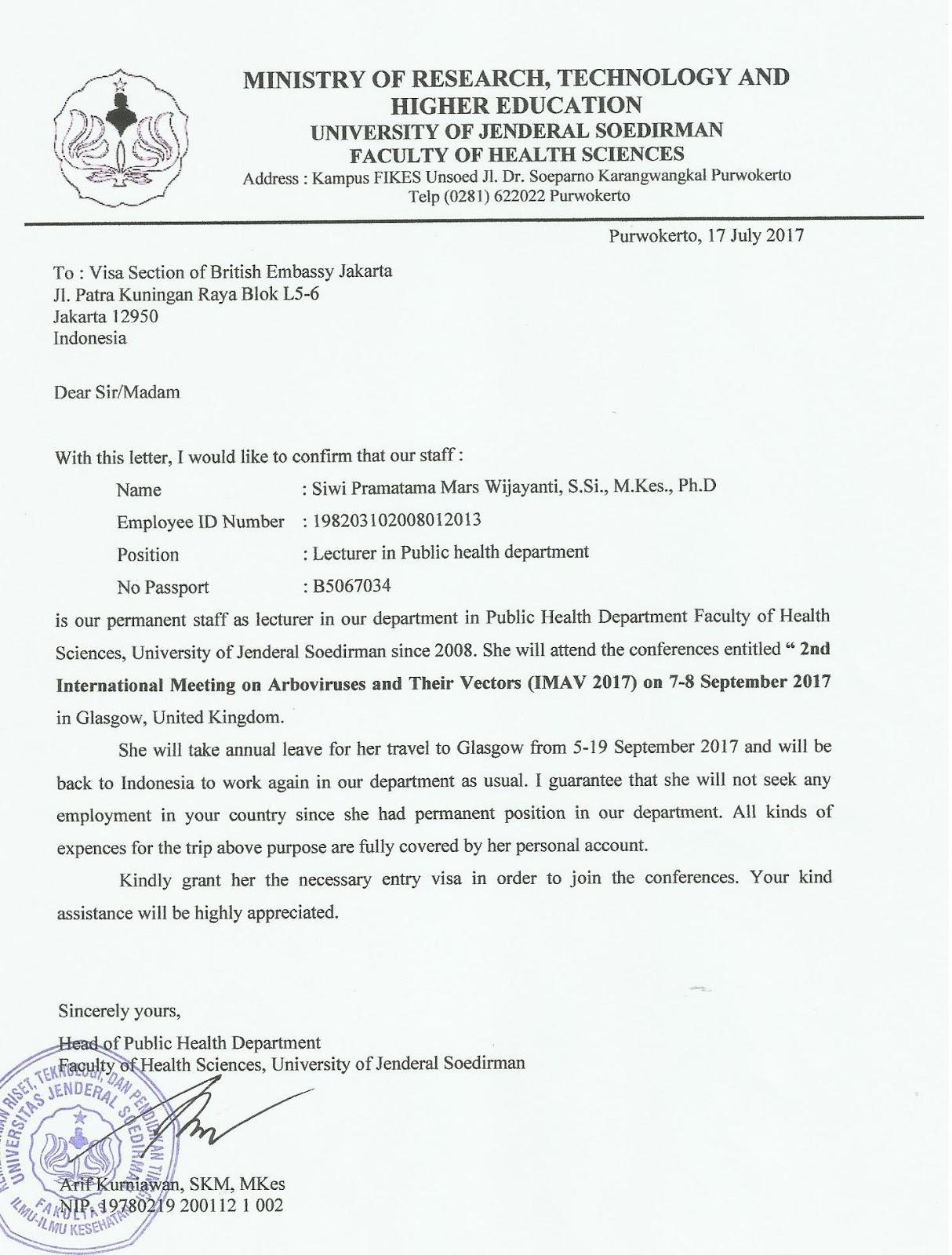 Contoh Surat Izin Suami Untuk Visa Uk - Kumpulan Contoh Surat
